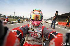 Lady racer Kezia Santoso