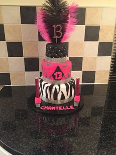 3 tier 13th birthday cake