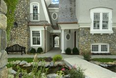 exterior works rebuild idea antique stone wall