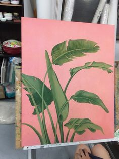Plant Painting, Plant Art, Painting & Drawing, Small Canvas Art, Guache, Tropical Art, Botanical Art, Painting Inspiration, Watercolor Art