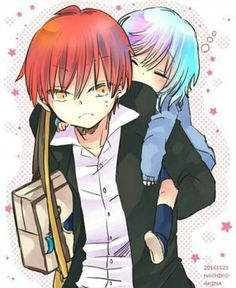 Karmagisa and other ship Pics - Me just shipping (Karma and Nagisa) - Wattpad Anime Meme, Manga Anime, Anime Boys, Karma Y Nagisa, Classroom Memes, Koro Sensei, Nagisa Shiota, Image Manga, Wattpad