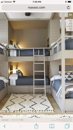 Awesome and Spirited Bunk Beds Concepts - Vivid or single layouts of can take advantage of the purchase of an awesome bunk bed. We provide you 30 trendy and lively bunk bed suggestions. Bunk Bed Rooms, Cool Bunk Beds, Kids Bunk Beds, Cabin Bunk Beds, Best Bunk Beds, Build In Bunk Beds, Boys Bunk Bed Room Ideas, Kids Bedroom, Bedroom Decor