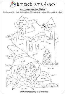 Risultati immagini per sčítání do 100 Math Activities, Halloween, Coloring Pages, 1, Classroom, Album, Printer, Quote Coloring Pages, Activities