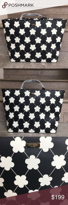 Kate Spade Daisy Tote Made of Saffiano leather makes this tote extremely durable. Fabric lining inside features a zip closure along with an inner zipper pocket. zip closure Black leather Fabric lining (L) 14 x W) 9 x (H) 5 inches Inner zipper pocket kate spade Bags Totes