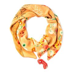 Orange Silk Scarf Petri Party | rumisu