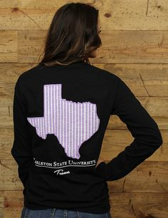 Don't be seer SUCKERED into not getting this Comfort Colors long-sleeve tee! BLEED PURPLE, TEXANS!