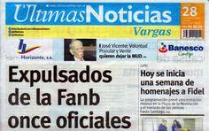 Últimas Noticias Vargas lunes 28  noviembre  de  2016