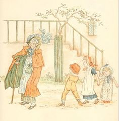 Little Ann, a book by Kate Greenaway 1880 - Plate 15
