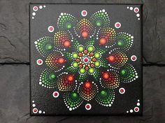 Mandala Bild, Leinwand handbemalt und wunderschön