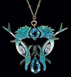 René Jules Lalique -  was recognized as one of France's foremost Art Nouveau jewellery designers.