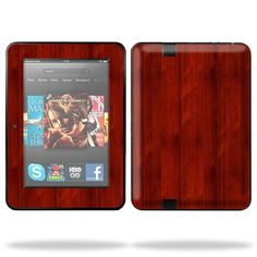 Protective Skin Decal Cover for Amazon Kindle Fire HD 7″ inch Tablet Sticker Skins Cherry Wood.   Mightyskins are removable vinyl skins for protecting and customizing your portable devices. They feature ultra high resolution designs, the perfect way to add some style