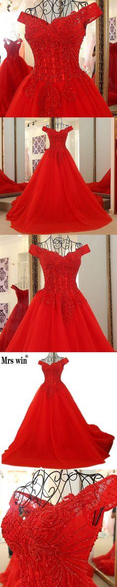 Ruby Bridal 2017 Luxury Purple Chiffon Appliques Beaded Evening Dresses  Vestido De Festa Long Sleeves A-line Prom Gown L095  6a99f75850d9