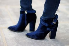 navy boots by Thakoon.
