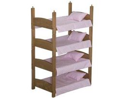 Wooden Quadruple Doll Bunk Beds Providing four times the fun for your little ones!