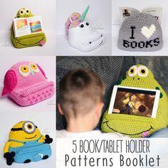 5 háčkování Book / Tablet držák vzory brožury - háčkování arkády