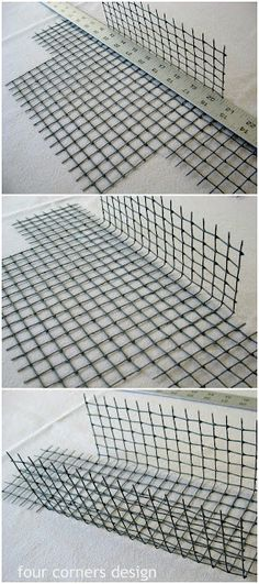 four corners design: Wonderfully wired. DIY wire baskets