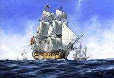 """""""El San José""""     El navío de primera clase y 112 cañones"""