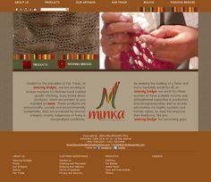 Sitio web orientado a la promoción de prendas elaboradas artesanalmente.  www.tejiendopuentes.com