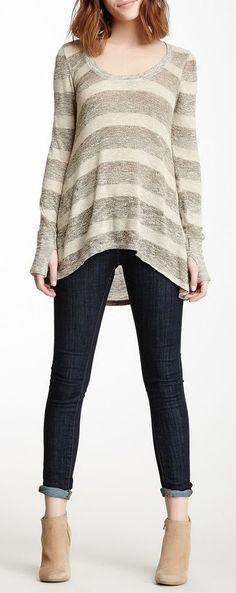 Scrapbook Striped Pullover