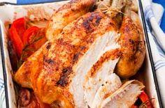 Spanish-style roast chicken