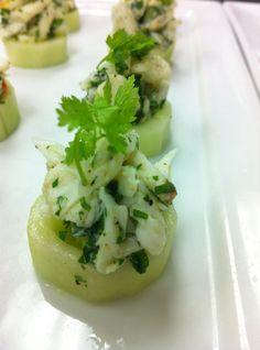 Cucumber Blue Crab Ceviche