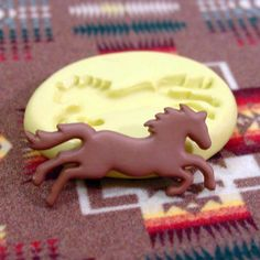 Horse Mold Flexible silicone - Western - Running - Galloping - Resin - Polymer Clay - FOOD Safe - Fondant - Chocolate - Candy S771M on Etsy, $3.95