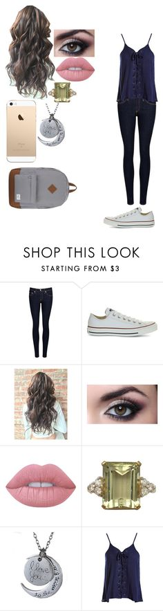 """School"" by magcon1d ❤ liked on Polyvore featuring rag & bone/JEAN, Converse, Lime Crime, Sans Souci and Herschel Supply Co."
