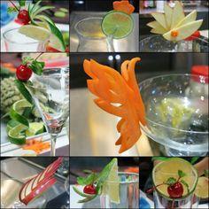 mẫu trang trí thức uống trong buổi học cắt tỉa