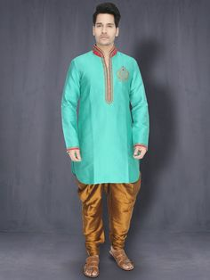 Atlantis Green & Copper Kurta with Patiala