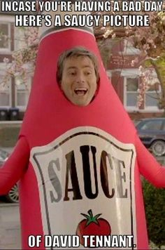 A saucy picture of David Tennant. Ha ha!