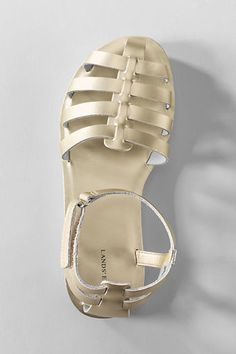 Girls' Delta Play Leather Sandals from Lands' End $21