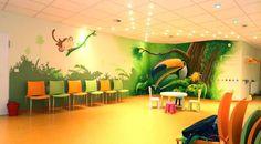 Tropischer Regenwald in Kinderarzt verzaubert Wartezeit:  Kunst  von  Wandgestaltung Graffiti Airbrush von Appolloart