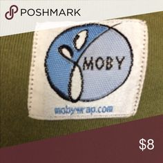 Moby wrap in Olive Green Moby Wrap - soft stretchy cotton wrap sling for baby/toddler. Has storage bag that is not in great shape but I can include :) moby wrap Other
