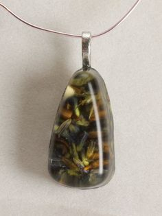 Lavender Flower herb in Resin Pendant by GreyGyrl on Etsy, $12.00