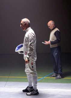 Behind every fencer stands a coach