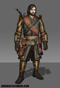 Fantasy warrior character, Travis  Lacey on ArtStation at https://www.artstation.com/artwork/41ev4