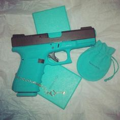 Tiffany (Blue) Glock- Oh. My. Goodness!!!! Need this!!!!! Guns And Ammo, Tiffany Blue Gun, Pistols, Hand Guns, Custom Glock, Custom Guns, Bang Bang, Conceal Carry, Newport News