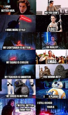 Anything you can do, I can do better with Kylo and Rey, Force Awakens
