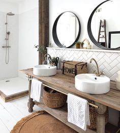 Fab bathroom Cred rachelstyliste Don t miss all the FAB inspiration shared at interior delux TURN ON NOTIFICATION relse delux Bathroom Furniture, Bathroom Interior, Modern Bathroom, Furniture Storage, Furniture Ideas, Furniture Design, Bathroom Cupboards, Bathroom Layout, Bathroom Goals