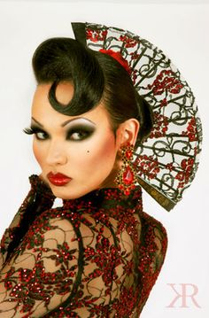 April Carrion of RuPaul's Drag Race season six.  Love her.  I think she can go all the way to the crown.