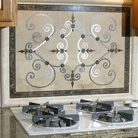 Portofino Tile Rug Floor Medallion Kitchen Backsplash
