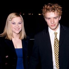 Pin for Later: Reese Witherspoon's Smile Will Put a Grin on Your Face, Too  Reese and Ryan Phillippe looked happy at an LA event in February 1998.