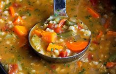 Ingredients     1 yellow onion, chopped   2 carrots, cut into ½-circles   2 stalks celery, chopped   1 medium sweet potato, peeled and cut into ¾-inch pieces   4 garlic cloves, minced   1 ½ cups frozen green beans   ¾