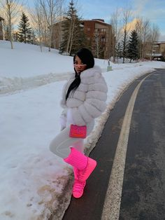 Swag Outfits For Girls, Cute Swag Outfits, Black Girl Fashion, Look Fashion, Winter Fashion Outfits, Fall Outfits, Snow Outfit, Pose, Look Girl