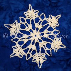 Today's snowflake is yet another old pattern I hadn't yet published. As I was testing the pattern (and making several corrections and adju. Crochet Snowflake Pattern, Crochet Snowflakes, Christmas Snowflakes, Snowflake Ornaments, Noel Christmas, Crochet Motif, Crochet Patterns, Thread Crochet, Crochet Crafts