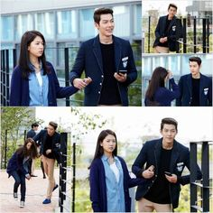 'Heirs' gets you ready for a love triangle with still cuts of Kim Woo Bin holding Park Shin Hye's hand | allkpop