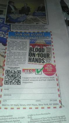 assault weapons ban petition in @nydailynews