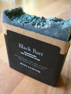 Black Bart Hot Process Soap - Leather, Balsam, Woodsmoke, Galbanum... Coconut-Free Formula. $7.00, via Etsy.