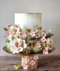 Cake Icing, Eat Cake, Cupcake Cakes, Pretty Cakes, Beautiful Cakes, Wedding Cake Designs, Wedding Cakes, Japanese Cake, Painted Cakes