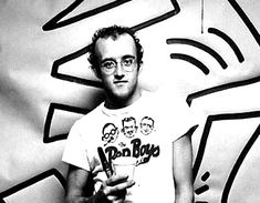 Keith Haring Black and White Portrait 1980